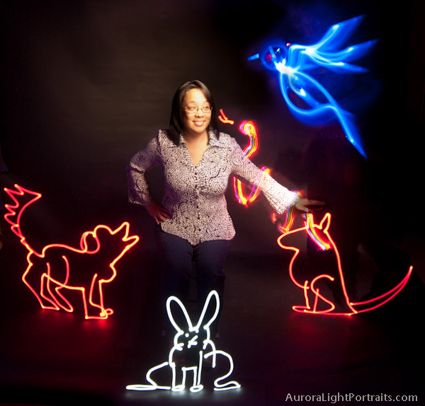 Light Painting with pets
