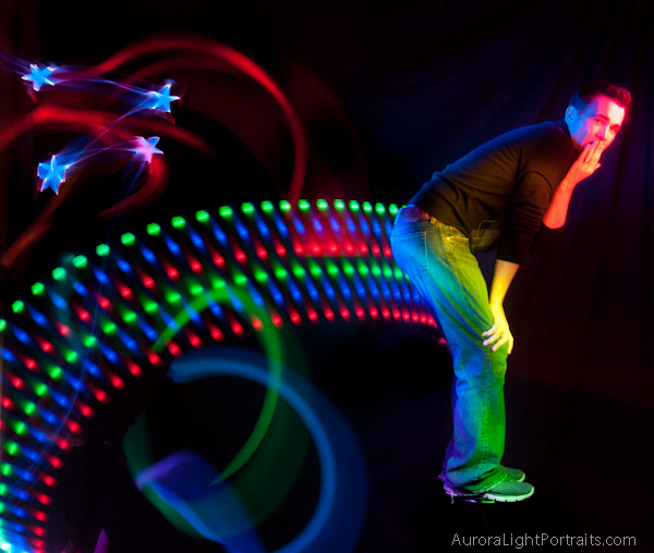 Light Painting Sh*tting a rainbow